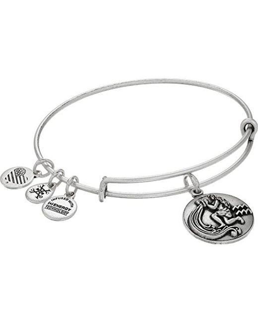 ALEX AND ANI - Metallic Zodiac Iii Expandable Wire Bangle Bracelet - Lyst