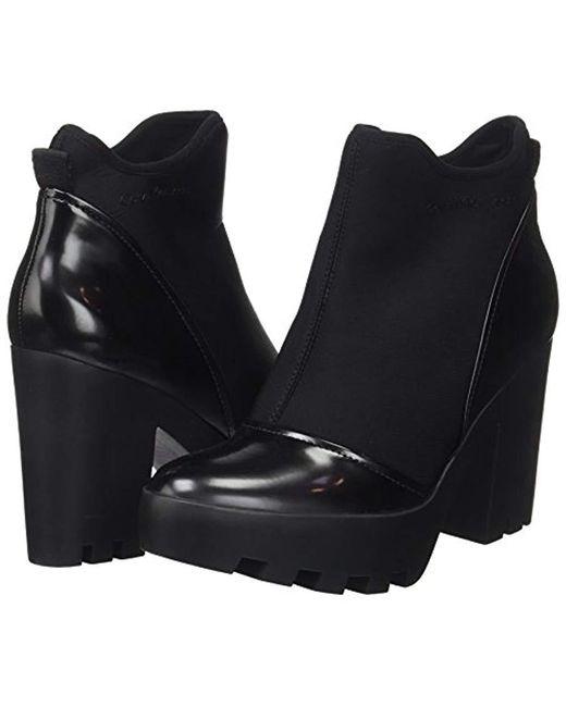 8d3f053242fc1 ... Calvin Klein - Black Sibyl Neoprene box Smooth Boots - Lyst ...
