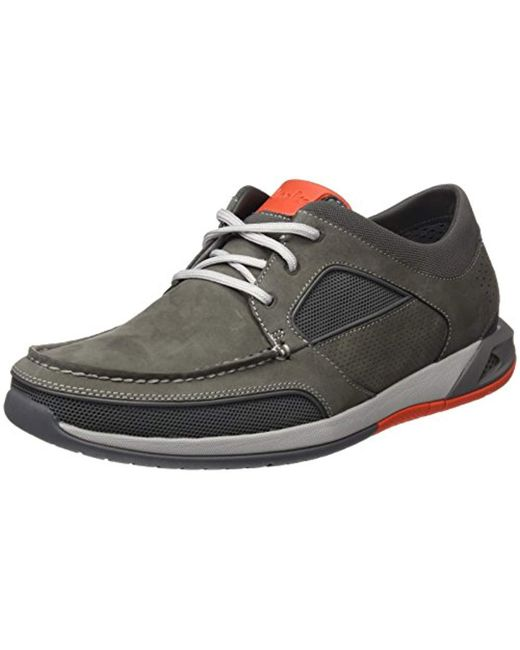 0565e52b6bbff Clarks Ormand Sail Boat Shoes in Gray for Men - Save 60% - Lyst