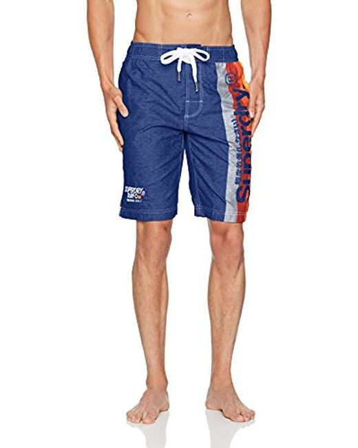 a23d7d2b5e Superdry - Blue Cali Surf Board Short for Men - Lyst ...