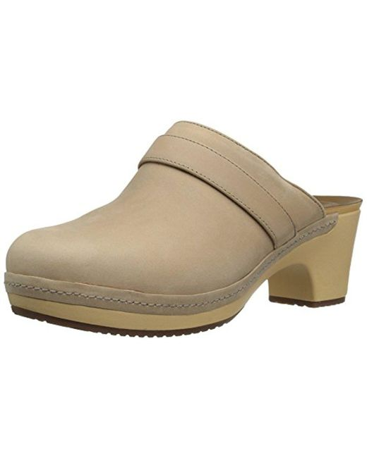 Crocs™ - Natural Sarah Leather Clog Mule - Lyst