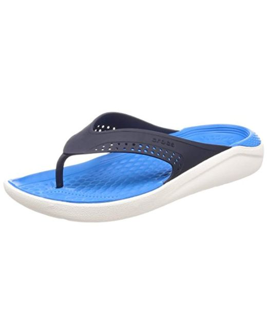 ef6ac84e73bd Crocs™ Unisex Adults  Literide Flip Flat Sandal in Blue for Men - Lyst