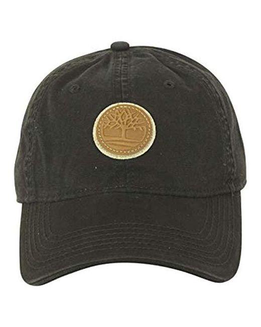 1a35f8c07c3e57 ... Timberland - Black Cotton Canvas Baseball Cap for Men - Lyst ...