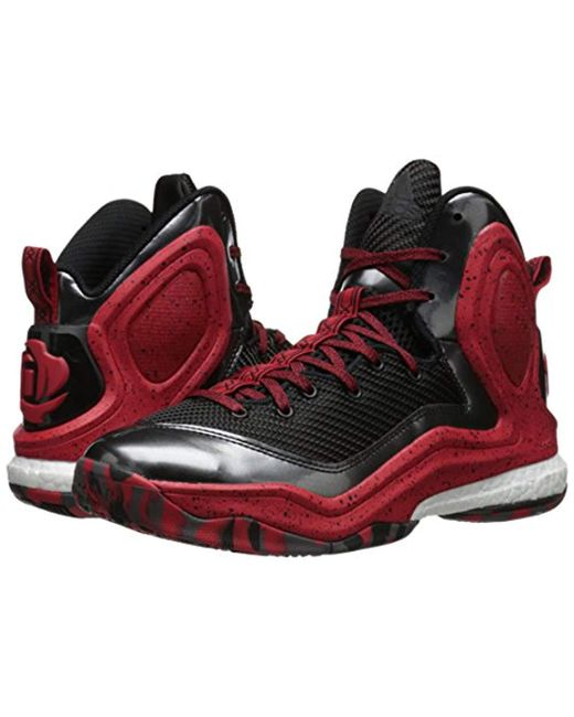 c400fd4923b8 ... Adidas - Red Performance D Rose 5 Boost Basketball Shoe for Men - Lyst  ...