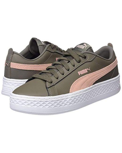 98e4019c4ce7c8 ... PUMA - Multicolor Smash Platform L Low-top Sneakers Black - Lyst ...