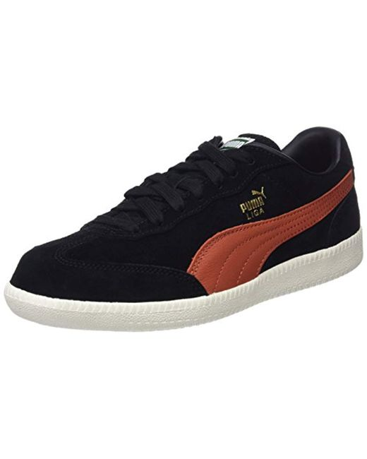 b12d4d4710b4 PUMA Unisex Adults  Liga Suede Shoes in Black for Men - Save 37% - Lyst