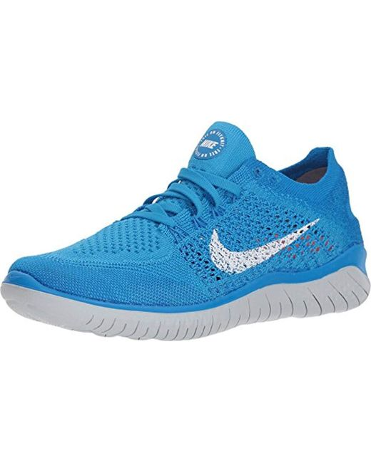Women's Blue Wmns Free Rn Flyknit 2018 Running Shoes