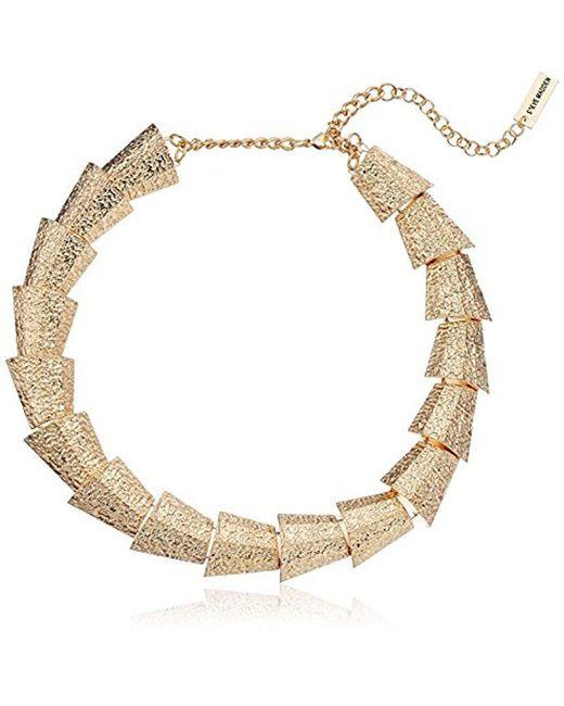 "Steve Madden - Metallic Textured Sectional Necklace, 15"" + 3"" Extender - Lyst"