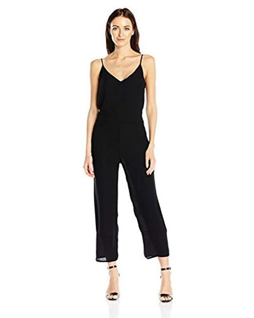 French Connection - Black Copley Crepe Solid Jumpsuit - Lyst