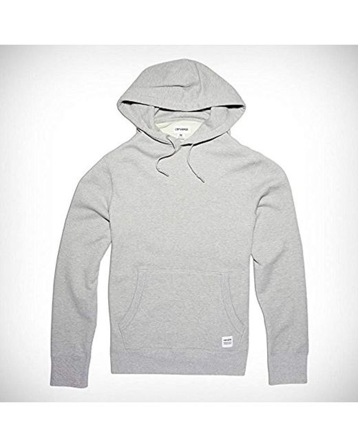 ca49bf566052 Converse - Gray Essentials Pullover Hoodie for Men - Lyst ...