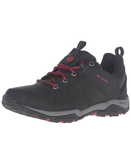 e14d4941609 Columbia Fire Venture Waterproof Low Hiking Shoes in Black - Lyst