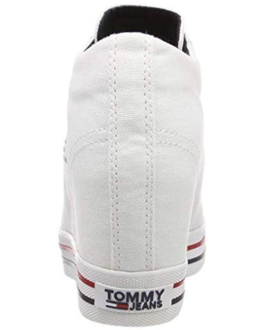 351263f1eca ... Tommy Hilfiger - White Wedge Sneaker - Lyst ...