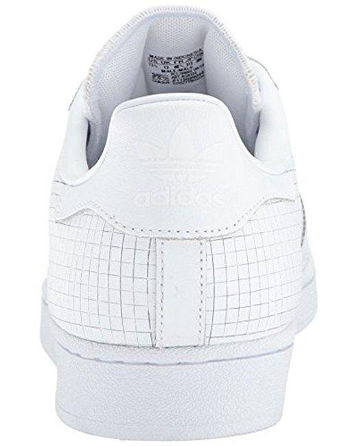 ... Adidas Originals - White Superstar Fashion Sneaker for Men - Lyst ... cb849840c