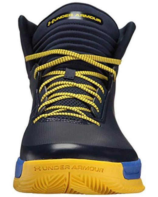 75fec42f32e ... Under Armour - Blue Lockdown 2 Basketball Shoe for Men - Lyst ...