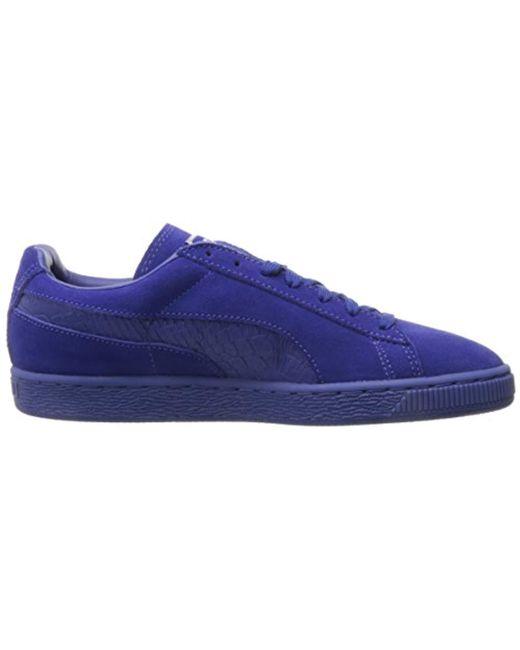 ... PUMA - Blue Suede Classic Mono Reptile Fashion Sneaker for Men - Lyst  ... 8824152d3