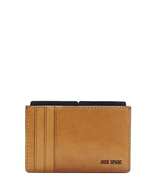 Jack Spade - Multicolor Mitchell Leather File Wallet for Men - Lyst