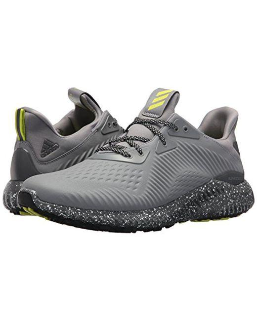 lyst adidas alphabounce em ctd scarpa da corsa in grigio per gli uomini.