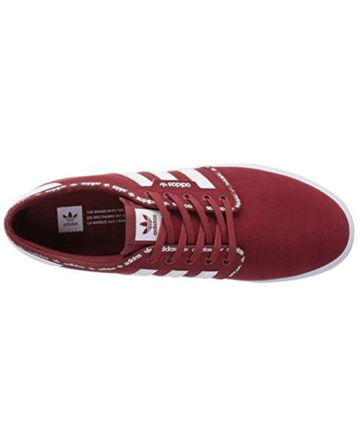 lyst adidas originali seeley moda scarpe da ginnastica in rosso per salvare il 35% uomini