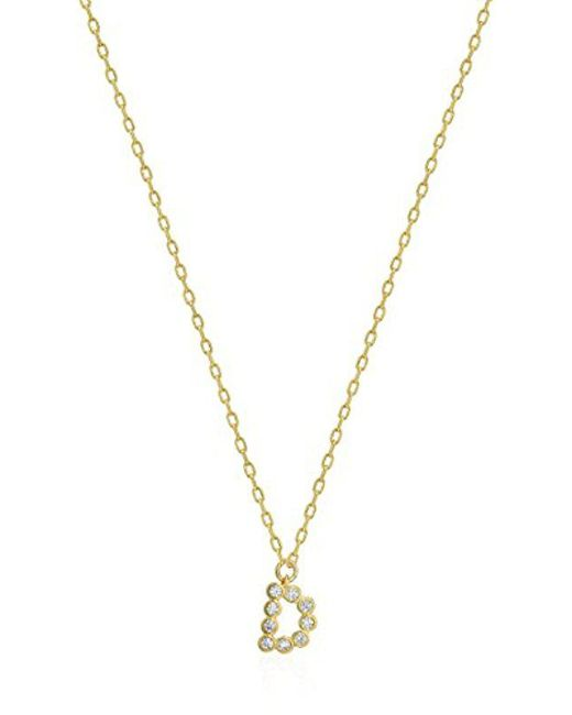 Kate Spade - Metallic One In A Million Stone D Pendant Necklace, Clear/gold - Lyst