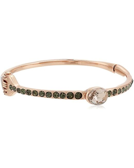 Kenneth Cole - Supercharged Collection Blush Stone And Black Diamond Accent Stretch Bracelet - Lyst