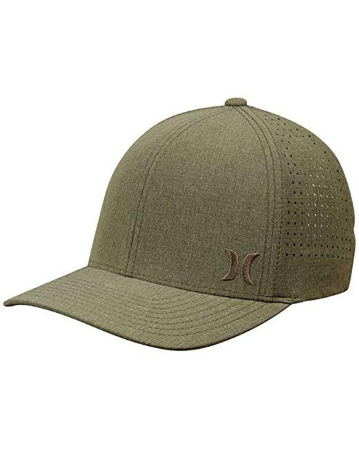 super popular ea2f9 06585 Hurley - Green Phantom Ripstop Curved Bill Baseball Cap for Men - Lyst