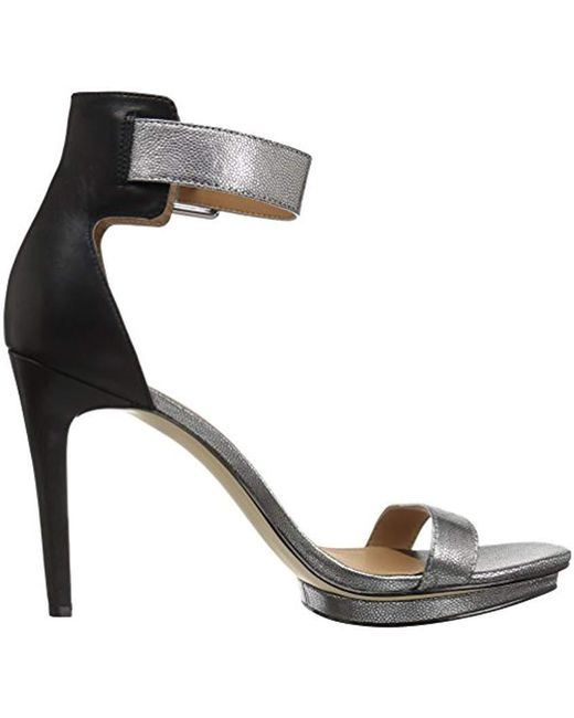 76614e04824 Lyst - Calvin Klein Vable Heeled Sandal in Metallic - Save 32%