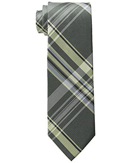 Calvin Klein - Green Plaid Tie for Men - Lyst
