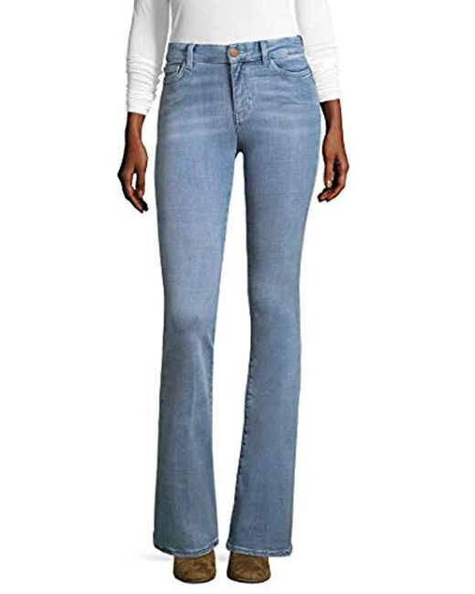 MiH Jeans - Blue Bodycon Marrakesh High Rise Flare Slim - Lyst