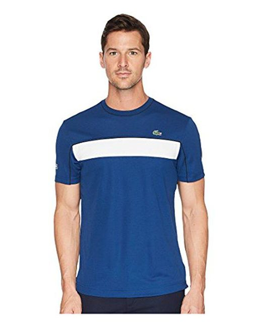 Lacoste - Blue Short Sleeve Jersey Tech With Novak Graphic T-shirt, Th3333 for Men - Lyst