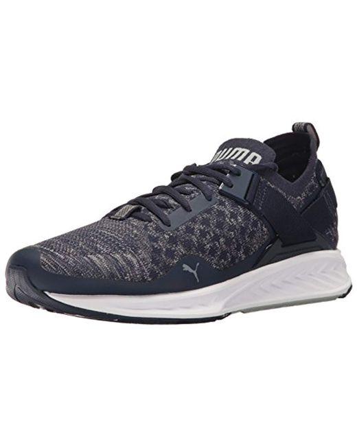 Lyst - PUMA Ignite Evoknit Lo Sneaker in Blue for Men - Save 61% bc6be7c2e