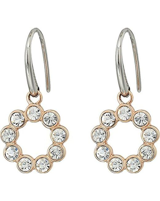 Fossil - Metallic Vintage Glitz Bezel Drop Earrings - Lyst