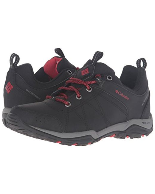 30e7c7e8377 Columbia - Black Fire Venture Waterproof Low Hiking Shoes - Lyst