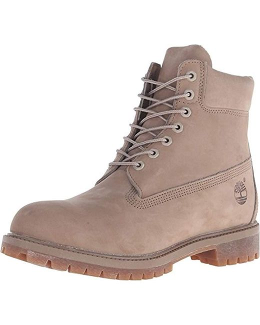 7db0051a41fca Timberland - Brown 6 Inch Premium Waterproof Boots for Men - Lyst ...