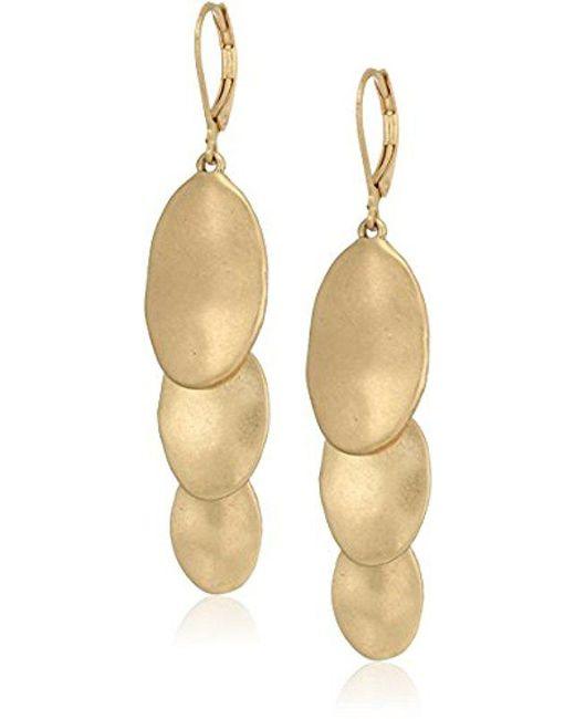 The Sak - Metallic S Layered Triple Drop Earrings - Lyst
