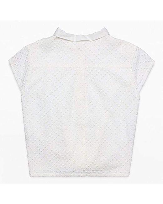4de8f755b Blusa para Niñas Esprit de color Blanco - 6 % de descuento - Lyst