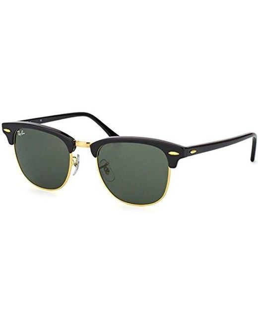 e3088c4876 Ray-Ban - Black Rb3016 Clubmaster Sunglasses 51mm for Men - Lyst ...