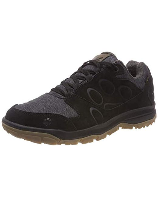 29936737 Jack Wolfskin - Black Vancouver Texapore Low M Rise Hiking Shoes for Men -  Lyst ...
