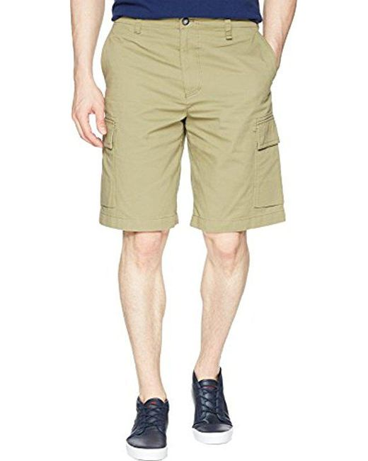 Lacoste - Natural Broken Twill Cargo Bermuda Shorts, Fh4681 for Men - Lyst