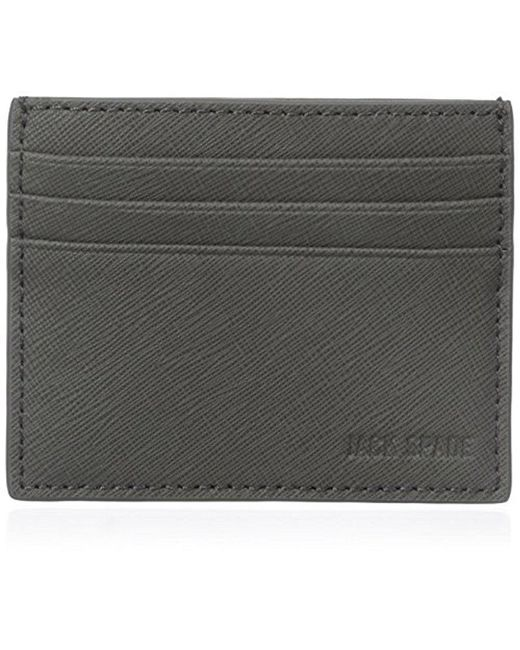 Jack Spade - Gray Barrow Leather 6 Card Holder for Men - Lyst
