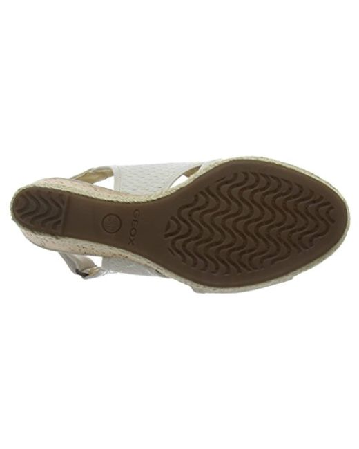 264bfd91a6 Geox Donna Janira C Platform Sandals in White - Lyst