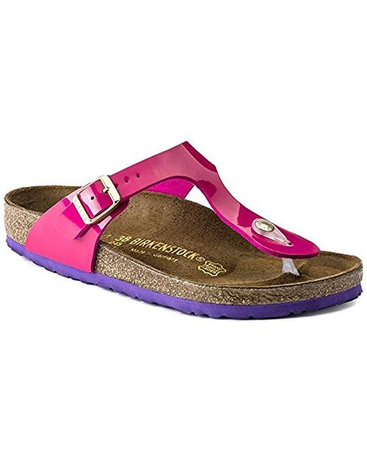 aa5c22370008 Lyst - Birkenstock Gizeh Unisex Leather Sandals in Pink - Save 34%