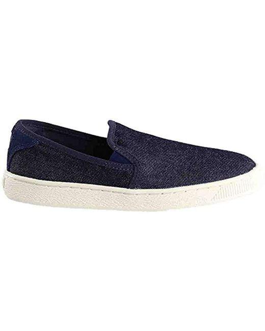 f32565a38737 Fashion On Puma Blue Sneaker Slip Classic Denim Basket Lyst Fw7fqz