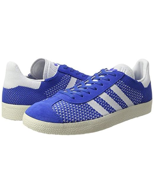 promo code 947ff 19b85 ... Adidas - Blue Gazelle Primeknit Trainers for Men - Lyst ...
