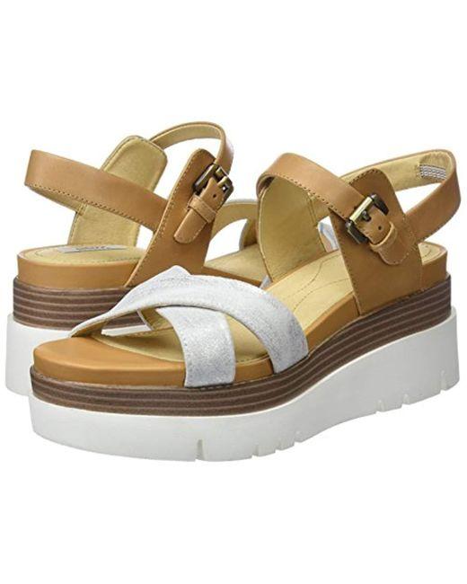 ... Geox - Brown D Radwa C Platform Sandals - Lyst ... c9f60613a03