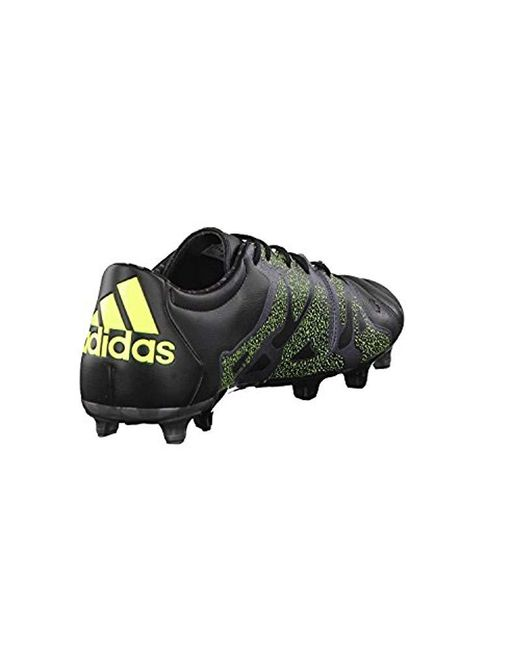 fd7c1a7a8e62f ... Adidas - Black X 15.2 Fg ag Leather Football Boots for Men - Lyst ...