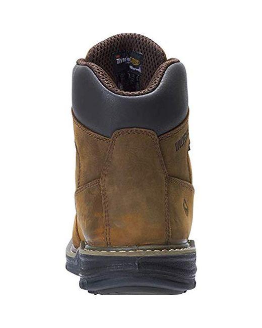 a46af597f77 Men's Brown Marauder 6 Inch Contour Welt Steel Toe Eh Work Boot