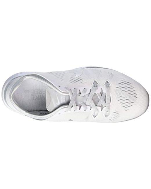 Women's White Free 5.0 Tr Fit Damen Laufschuhe Running Shoes