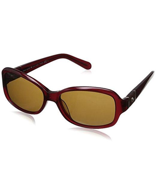 f80368732a Kate Spade - Multicolor Kate Spade Cheyenne Polarized Round Sunglasses -  Lyst ...