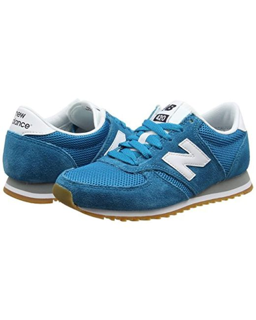 half off 26986 0e3d5 ... New Balance - Blue Unisex Adults  420 70s Running Suede Low-top Sneakers  for ...