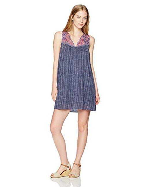 O'neill Sportswear - Blue Junior's Clara Miced Print Dress - Lyst